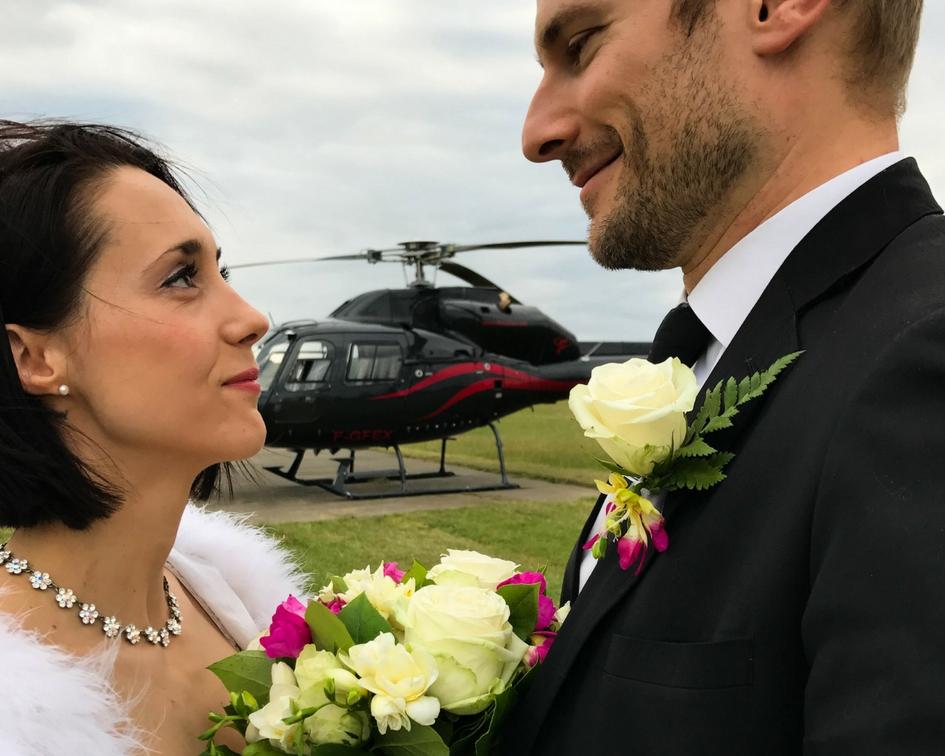 Mariage en hélicoptère