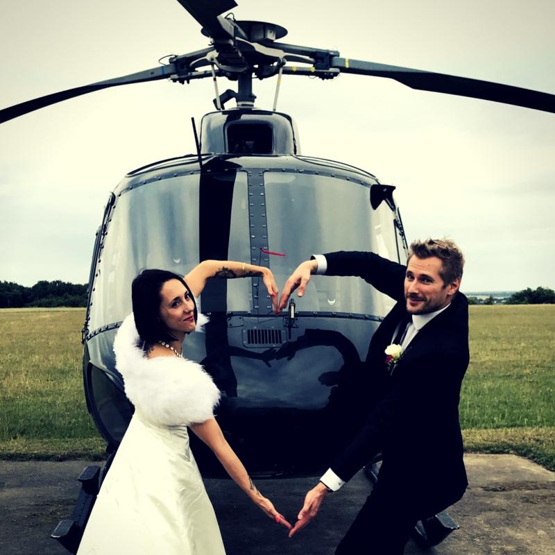 mariage hélicoptère