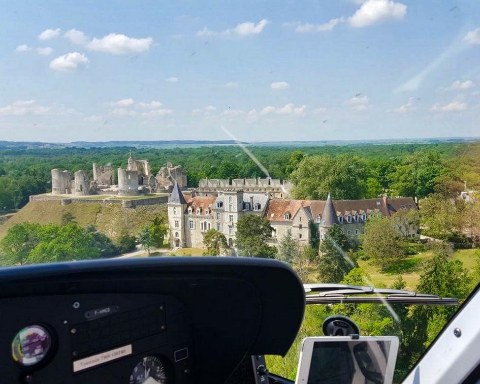 château de fère en hélicoptère