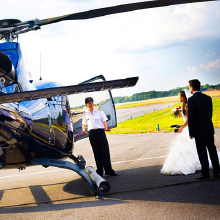 helicopter Wedding